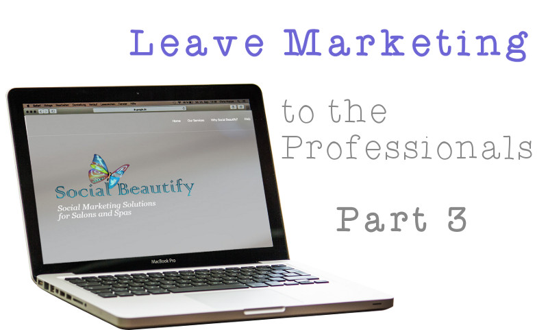 Leave Marketing To The Professionals (Pt. 3)