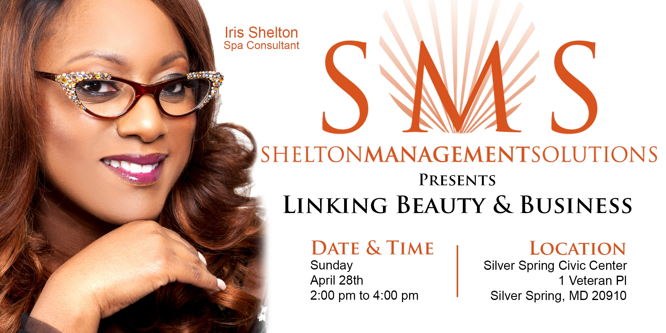 Join Iris Shelton at the Linking Beauty & Business two-hour Workshop. Business Assessment, Interactive Learning, Networking and more!