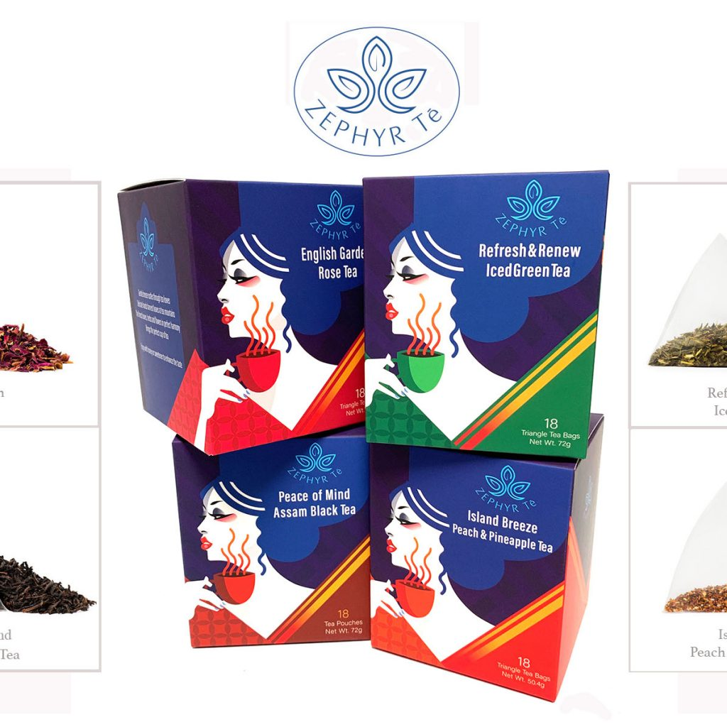 Introducing Zephyr Tē, a refreshing line of tea brand with four invigorating varieties.